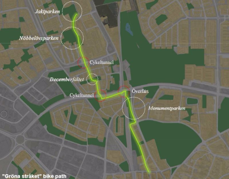 grona-cykelstraket